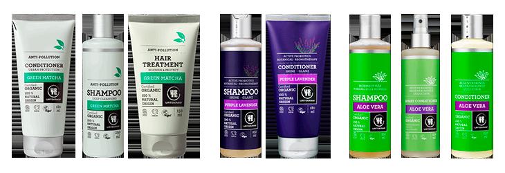 Shampoo og balsam fra Urtekram